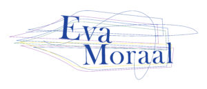 Logo van Eva Moraal, voor schrijven, redactie en manuscriptbegeleiding